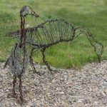 canadian geese wire sculpture image